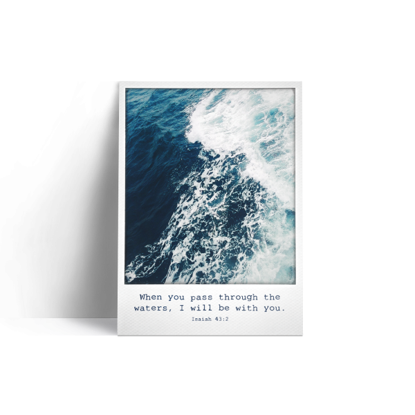 Postkarte: Polaroid - Waves