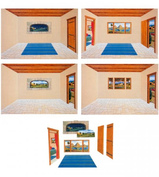Hintergrund mit Szenenaufsatz: Innenraum modern - KLEIN
