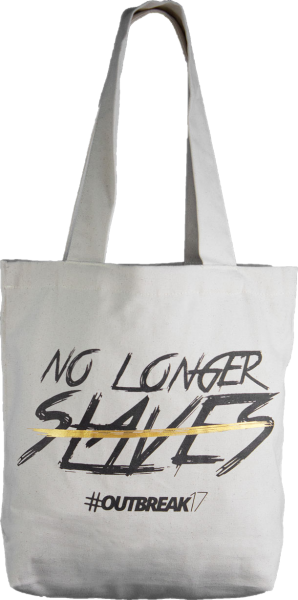 "Tasche ""No longer slaves"" beige"