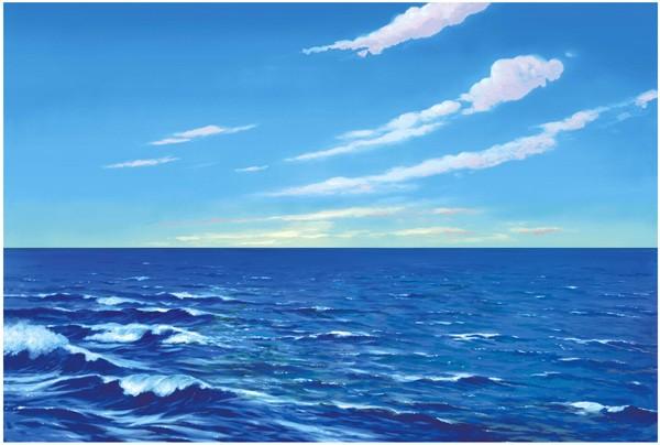 Hintergrund: Wasser-Himmel - GROSS
