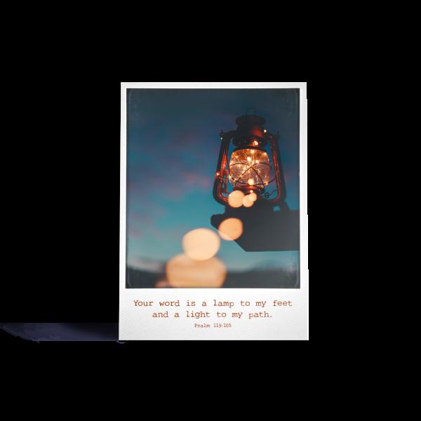 Postkarte: Polaroid - Lamp