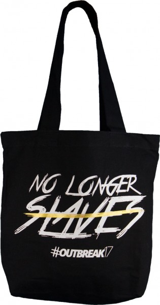 "Tasche ""No longer slaves"" Schwarz"